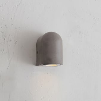 Southbank Outdoor Down Wall Light in Polymer Concrete