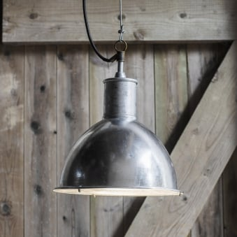 St Ives Bay Galvanised Outdoor Pendant Light