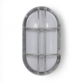 St Ives Bulkhead Exterior Galvanised Wall Light