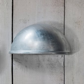 St Ives Eye Light Exterior Galvanised Wall Light