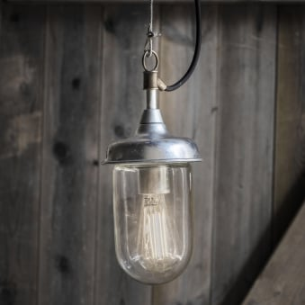 St Ives Harbour Galvanised Outdoor Pendant Light