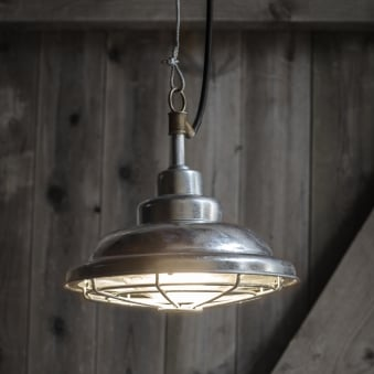 St Ives Mariner Galvanised Outdoor Pendant Light