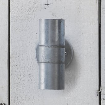 St Ives Up and Down Exterior Galvanised Wall Light
