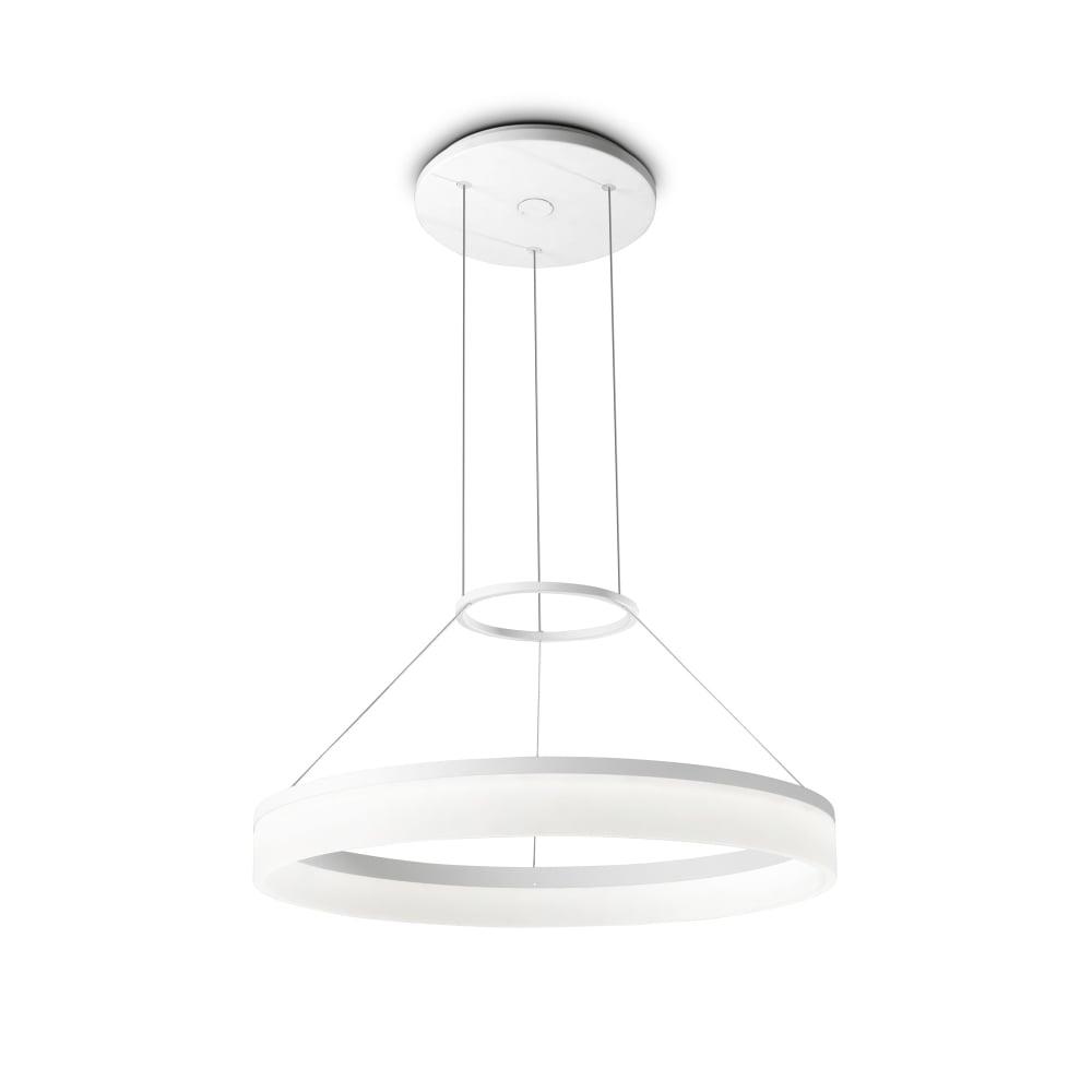 600 White Matt Led Light Pendant Circ Circular zUqGpSMV