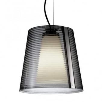 Emy Smoked Acrylic Shade Pendant Light