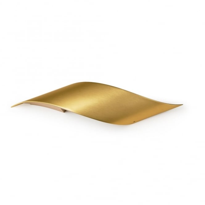 Small Gold Wall Lights : Grok Rizz Small Gold Curved LED Wall Light - Fitting Type from Dusk Lighting UK