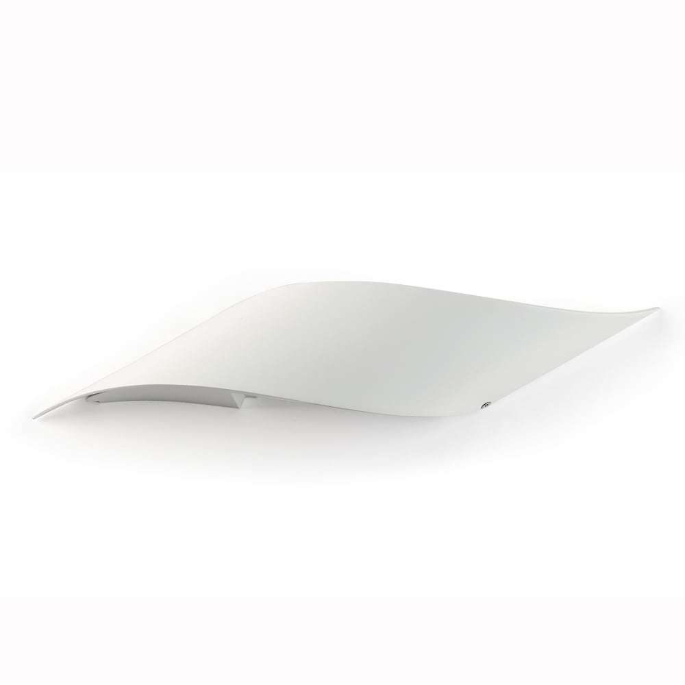 rizz small matt white curved led wall light