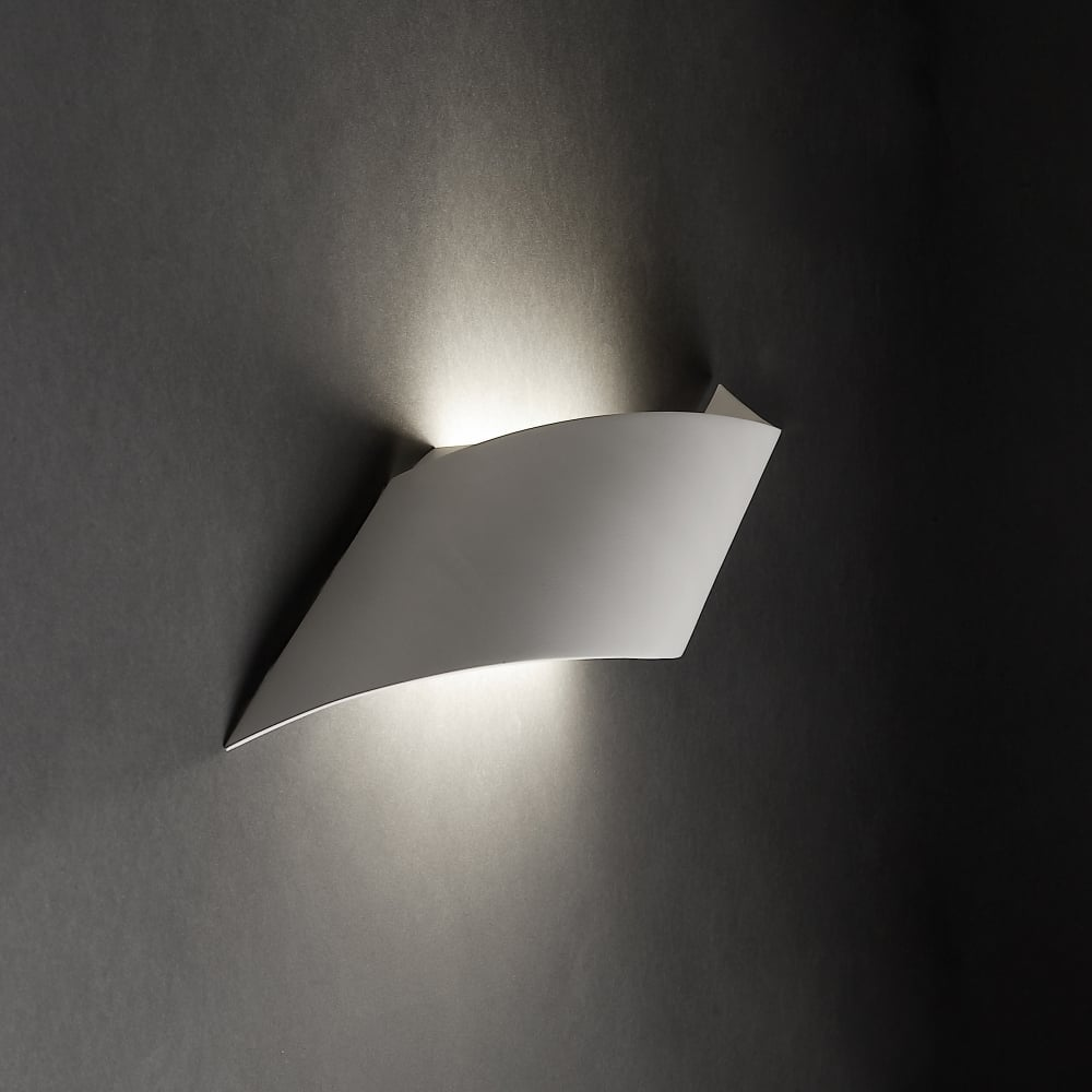 Grok rizz small matt white curved led wall light fitting type from rizz small matt white curved led wall light audiocablefo