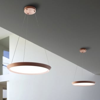 Saturn 300 Dimmable LED Pendant Light in Copper