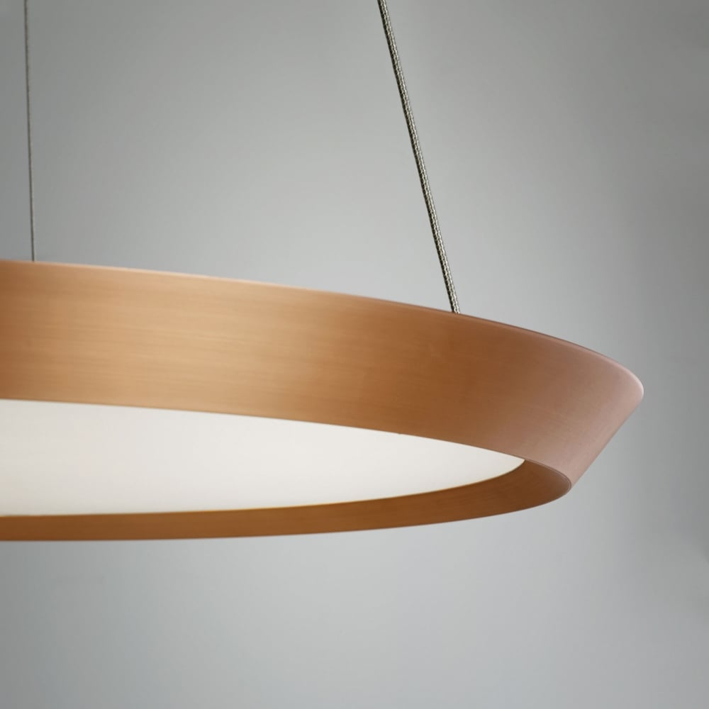 Grok saturn 600 dimmable led pendant light in copper saturn 600 dimmable led pendant light in copper aloadofball Images
