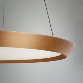 Saturn 600 Dimmable LED Pendant Light in Copper
