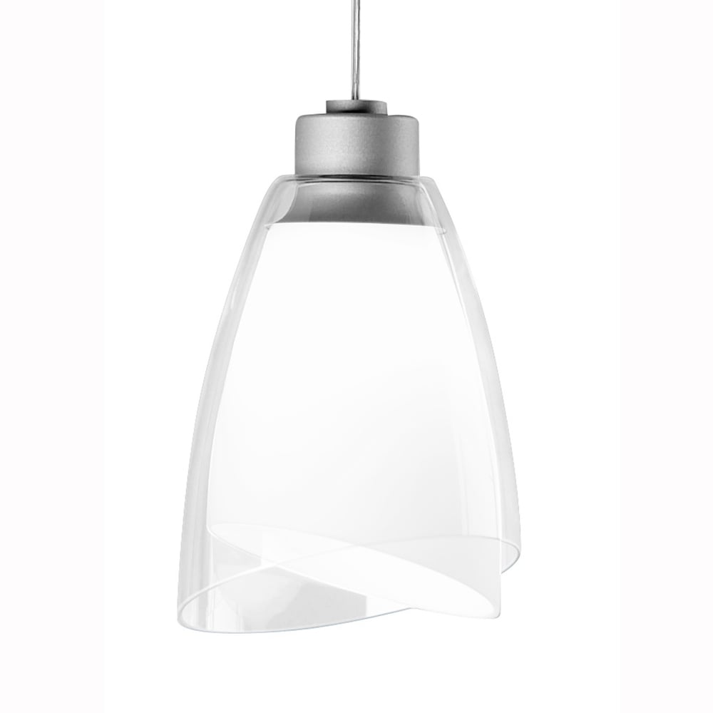 Grok twins steel and clear glass shade pendant light fitting type twins steel and clear glass shade pendant light aloadofball Gallery