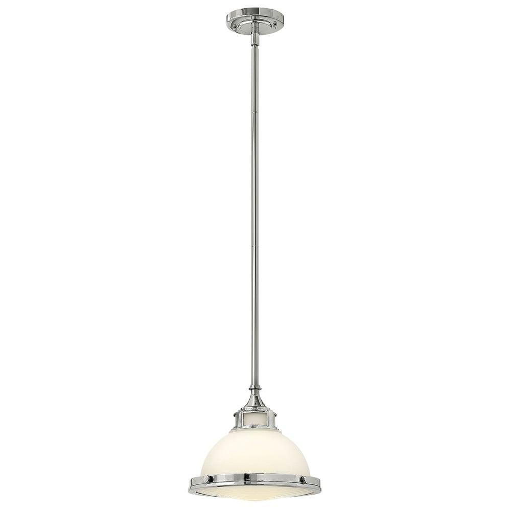 Hinkley lighting amelia polished chrome and opal glass mini pendant amelia polished chrome and opal glass mini pendant audiocablefo