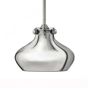 Congress Metal Shade Pendant Light in Chrome