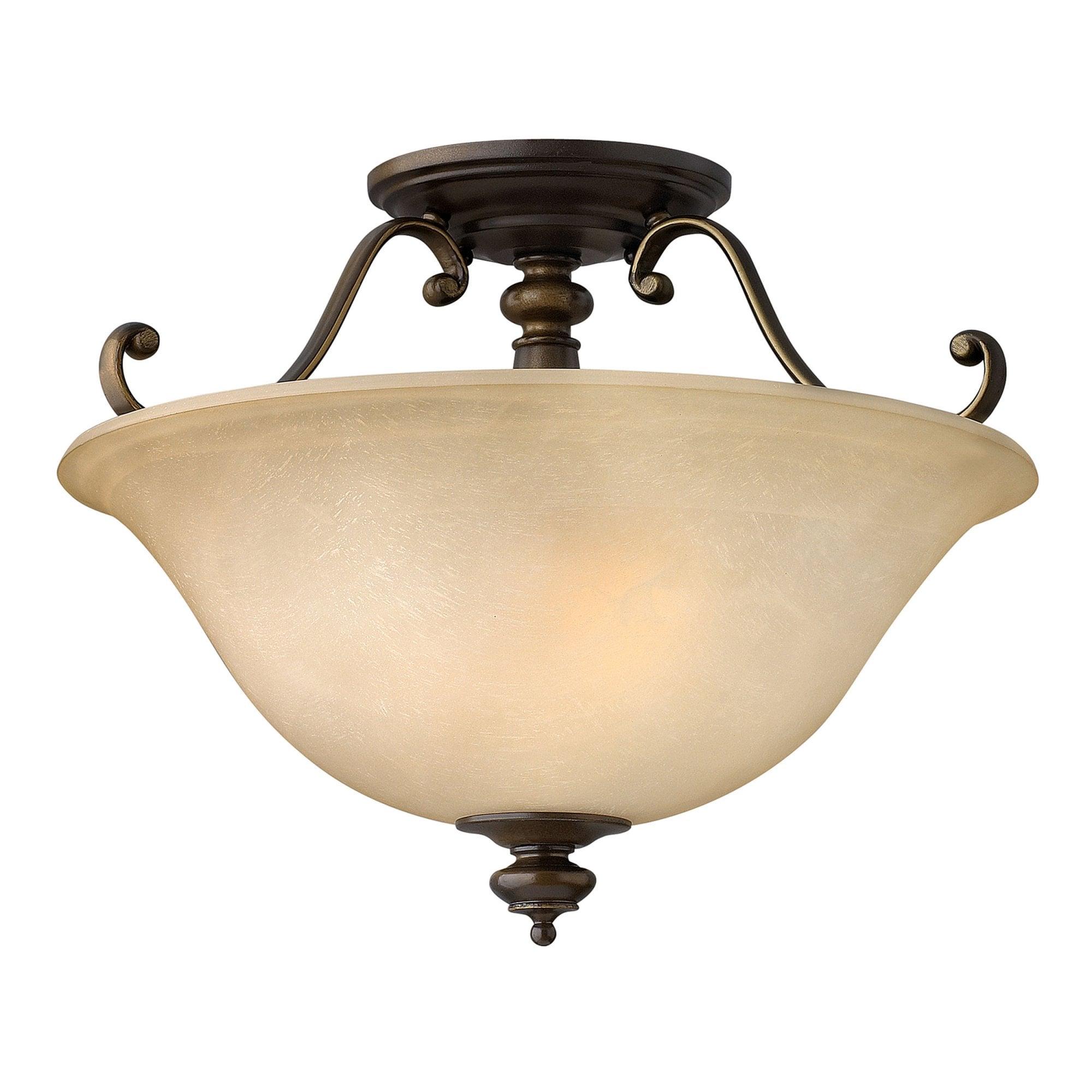 hinkley lighting dunhill semi flush ceiling light in royal bronze