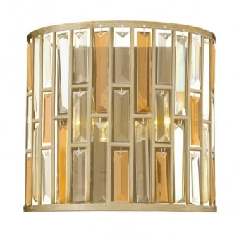 Gemma Small Wall Light in Silver Leaf