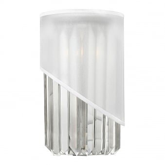 Gigi Wall Light in Crystal and White Organza