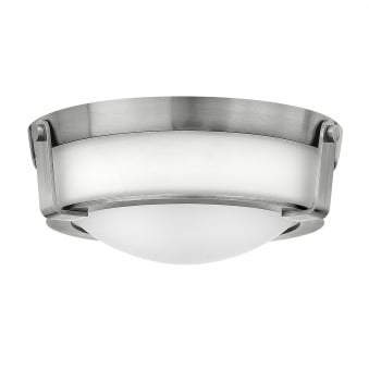 Hathaway Small Flush Mount Ceiling Fitting in Antique Nickel