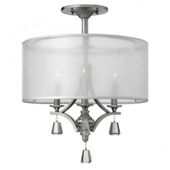 Mime Semi-Flush Ceiling Light in Brushed Nickel