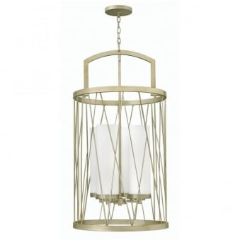 Nest Pendant Chandelier in Silver Leaf