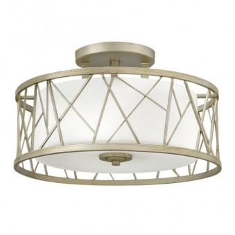 Nest Semi-Flush Ceiling Light in Silver Leaf