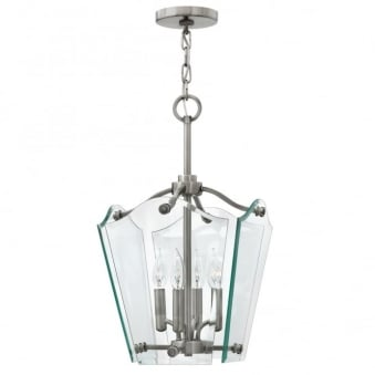 Wingate Bevelled Glass Small Pendant