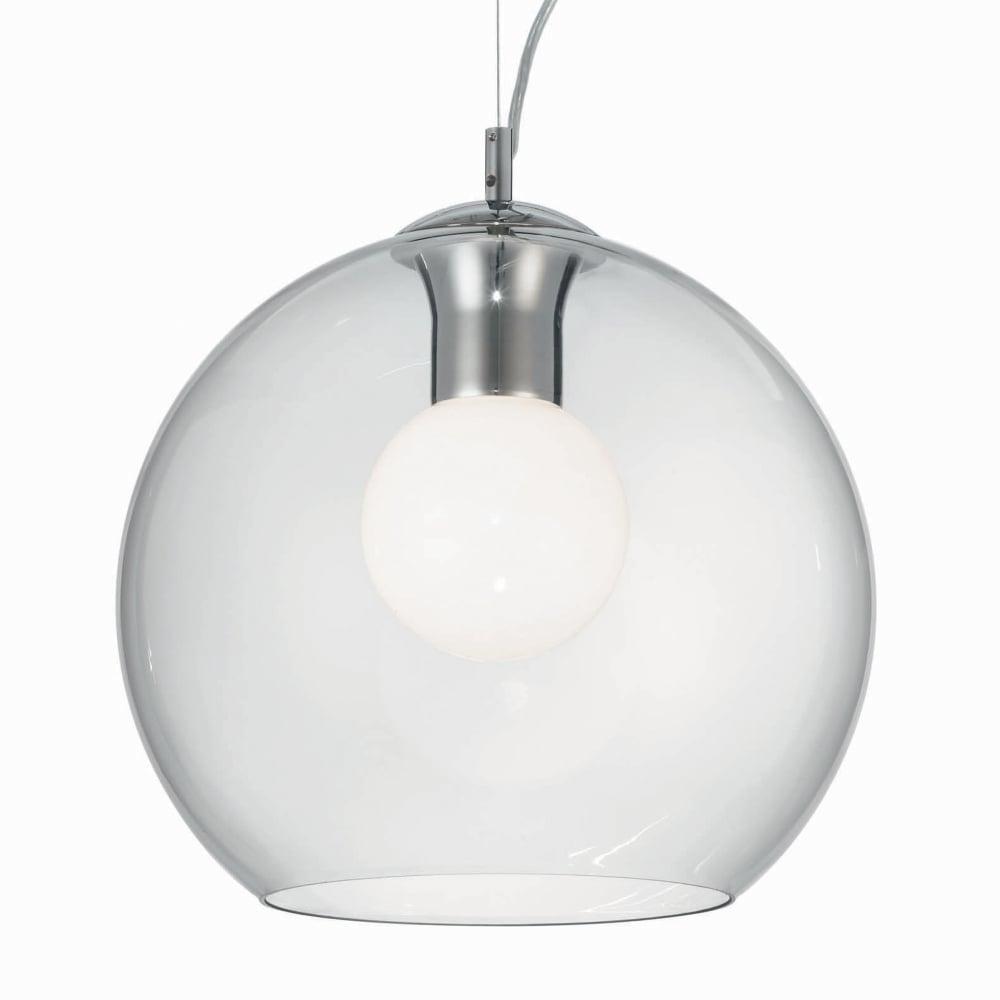 eglo  bolsano clear glass globe pendant light - nemo clear  glass globe pendant