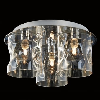 Illuminati Venus Three Champagne Glass Ceiling Light