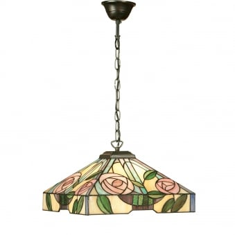 Willow Tiffany Glass Medium Pendant Light