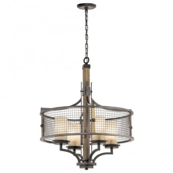 Ahrendale 4 Light Chandelier in Anvil Iron