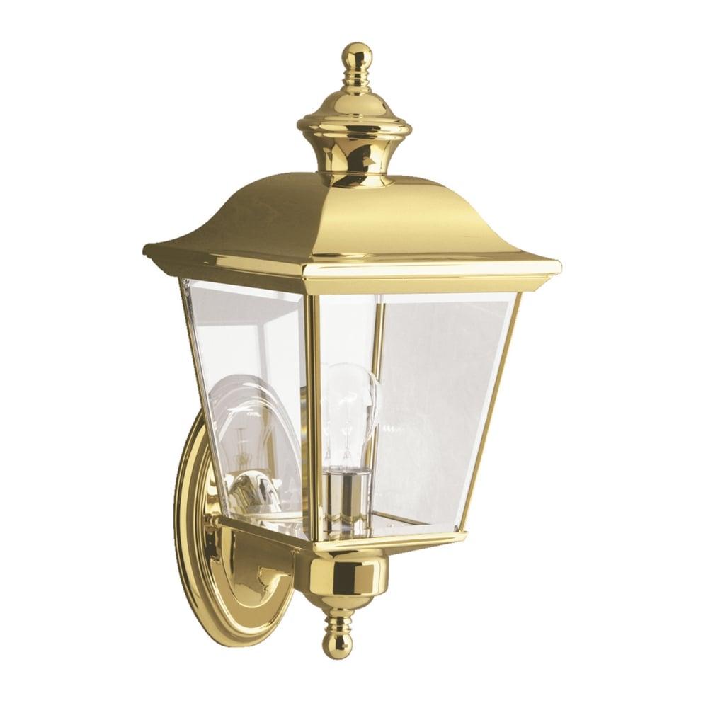 Klbayshore1m bay shore medium outdoor wall light in polished brass bay shore medium outdoor wall lantern light in polished brass mozeypictures Images