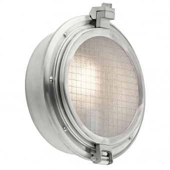 Clearpoint Outdoor Bulkhead Wall Light in Brushed Aluminium