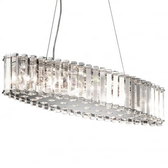 Crystal Skye IP44 LED Island Chandelier in Chrome