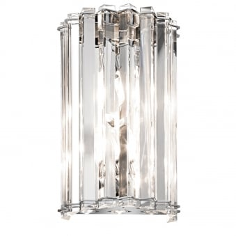 Crystal Skye IP44 LED Wall Light in Chrome