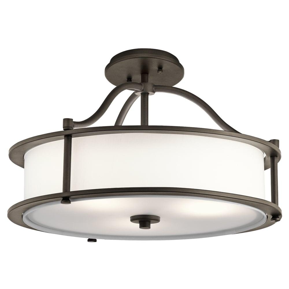 Emory 3 Light Pendant Or Semi Flush Light In Olde Bronze