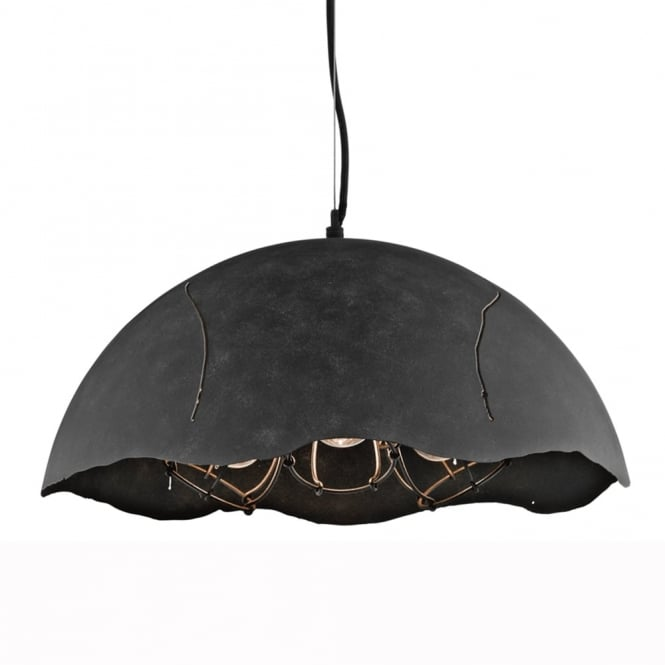 Kichler Fracture Three Caged Dome Pendant Light