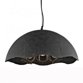 Fracture Three Caged Dome Pendant Light