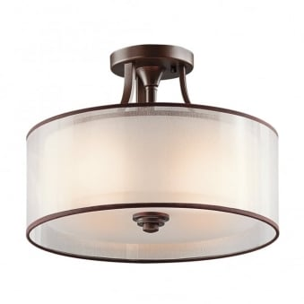 Lacey Small Semi Flush Celing Light