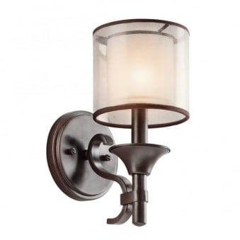 Lacey Wall Light in Mission Bronze
