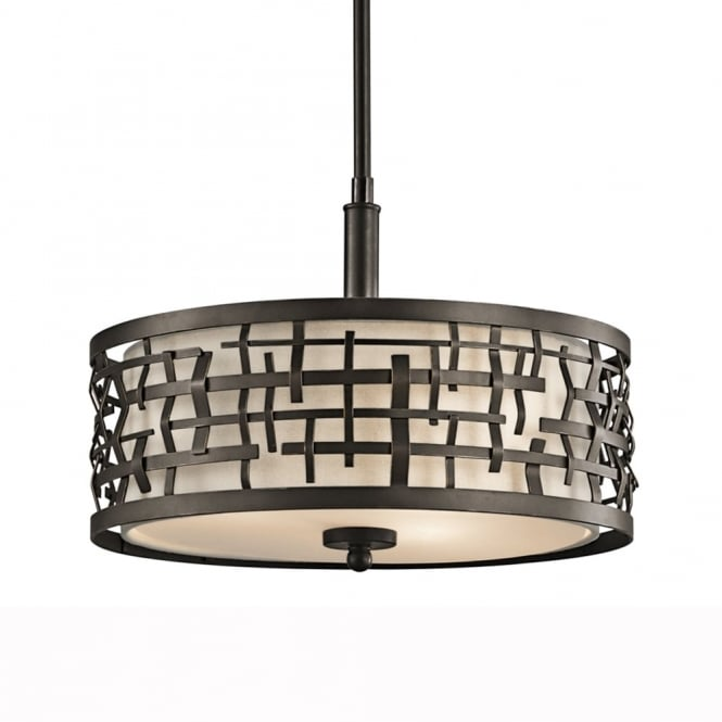 Kichler Loom Duo-Mount Pendant in Olde Bronze