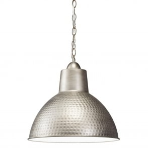 Missoula Hammered Antique Pewter Small Pendant Light