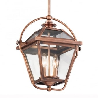 Ryegate Two Light Pendant in Antique Copper