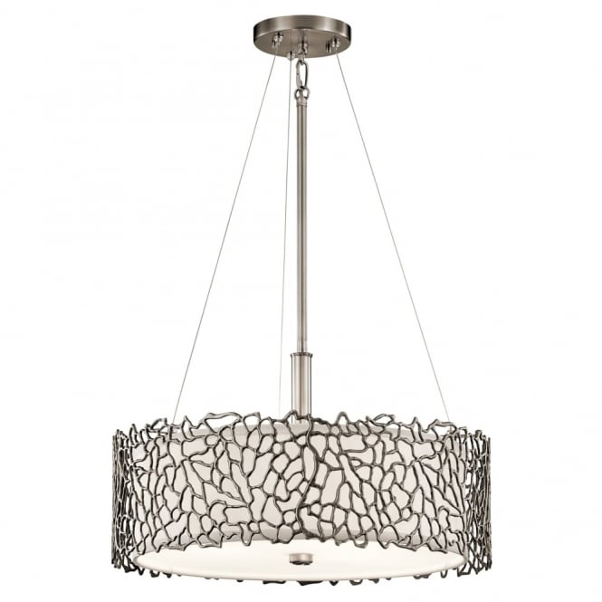 Kichler Silver Coral Duo-Mount Pendant in Class Pewter