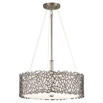 Silver Coral Duo-Mount Pendant in Class Pewter