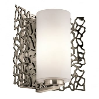 Silver Coral Wall Light in Classic Pewter