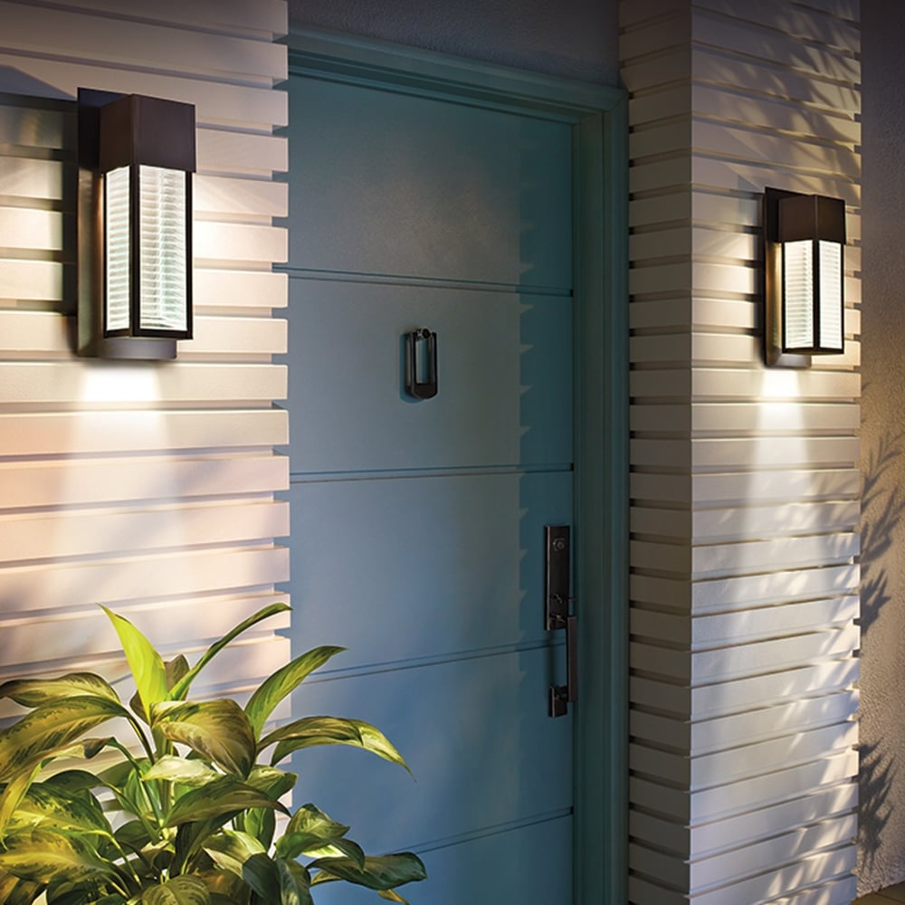 Kichler Kl Sorel2 Mled Sorel Led Outdoor Wall Light In Bronze