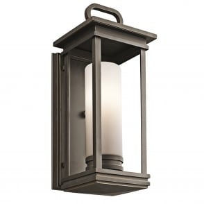 South Hope Medium Outdoor Wall Lantern in Rubbed Bronze