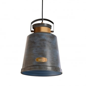 Old Grey Pendant Vintage Light