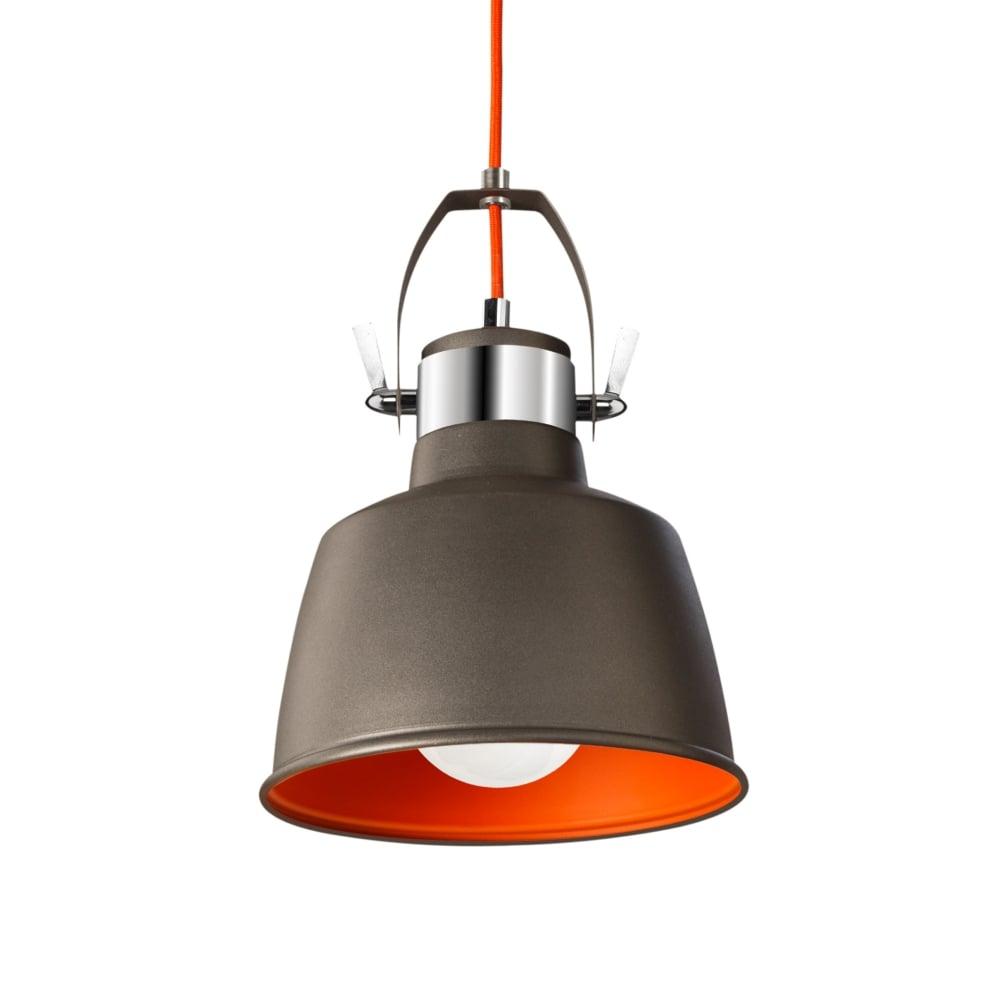 Vintage Grey Wall Lights : La Creu Urban Grey Pendant or Wall Vintage Light - Fitting Type from Dusk Lighting UK