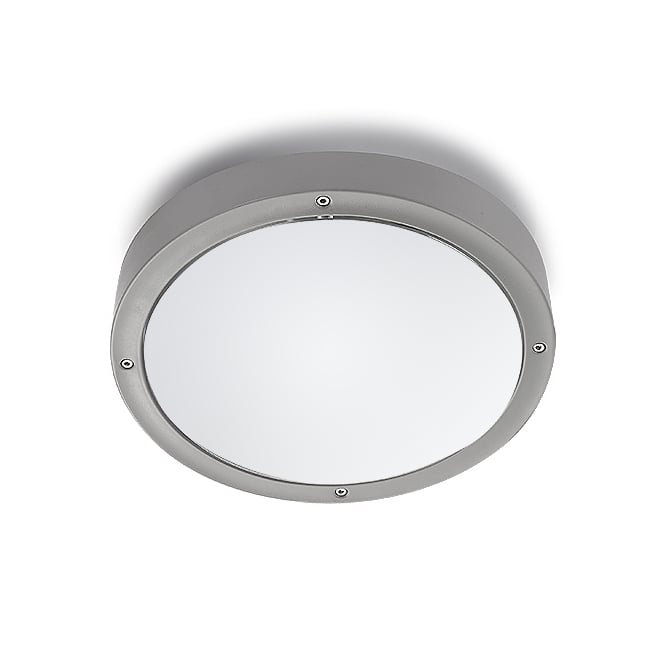 LEDS-C4 Basic Outdoor Light in Grey with Opal Diffuser